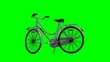 Leinwandbild Motiv Bicycle - isolated on green screen