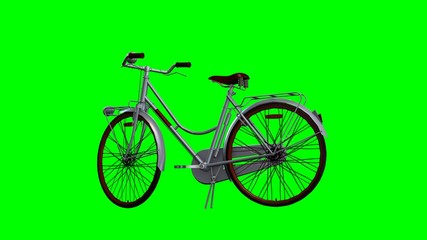 Bicycle - isolated on green screen