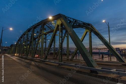fototapeta na ścianę Portland downtown and columbia river
