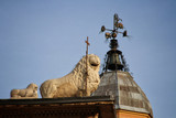 Modena, Emilia Romagna, Italy, Piazza Grande, Cathedral detail Unesco world heritage site