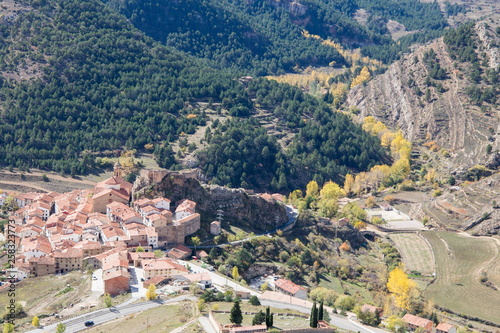Autumn in Linares de Mora medieval village Teruel Aragon Spain © ANADEL