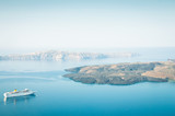 Beautiful landscape with sea view near Santorini