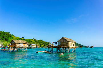 Traditional bajau village