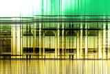 Composite overlay of yellow through green stripes