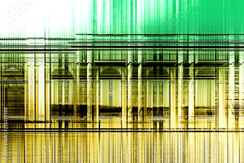 Composite overlay of yellow through green stripes © XtravaganT