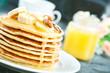 Leinwandbild Motiv pancakes
