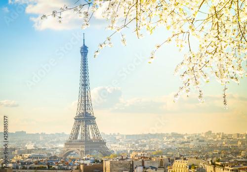 eiffel tour and Paris cityscape - 258385577