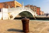 Italy, Venice, bollard for mooring ferries