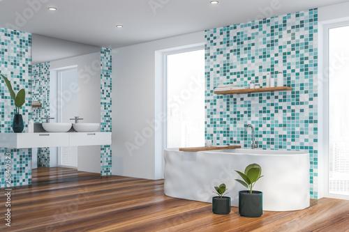 Modern light bathroom interior. - 258407523