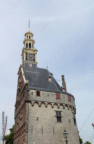 canvas print picture Hauptturm Hoofdtoren in Hoorn, Holland