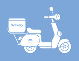 Scooter delivery vector icon