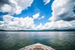 Leinwandbild Motiv boating and camping on lake jocassee in upstate south carolina