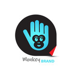 Monkey brand logo design