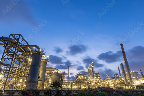 Refinery and petrochemical plant at sunset  | Buy Photos | AP Images