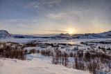 Sunset over Borg, Leknes, Lofoten, Norway
