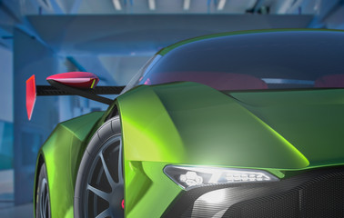 3d render of a generic sportscar front