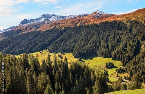 Alpenlandschaft Sertigtal Davos Clavadel - 258575915