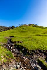 Stream on Hill of Grass © Mark
