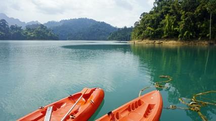 paddle boat excursion on chiao lan lake