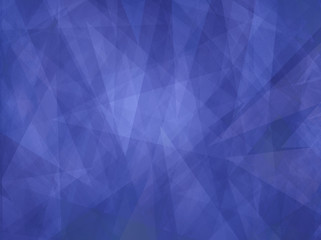 Blue background with abstract angles and triangle layers in abstract geometric pattern for web and business designs