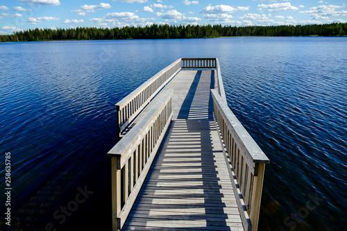 Acrylglas Pier pier on the lake, in Sweden Scandinavia North Europe