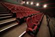 Empty cinema. Mock up.