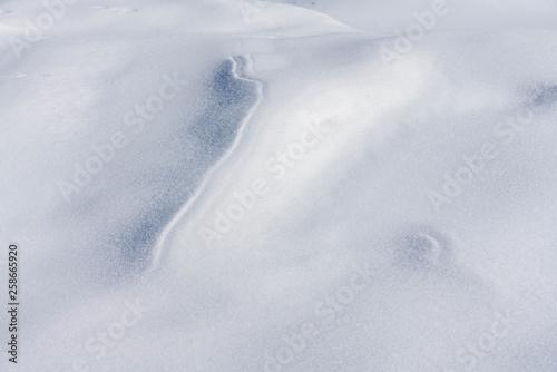 canvas print picture Strukturen im Schnee