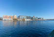 Panoramic view at Grand Canal Dock,a Southside area near the city centre of Dublin, Ireland. - 258682532