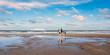 canvas print picture - cheval au galop sur la plage