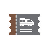 Railroad related icon on background for graphic and web design. Simple vector sign. Internet concept symbol for website button or mobile app.