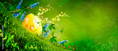Happy easter. Spring background. © pronoia
