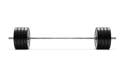 Barbell on white background, including clipping path © wabeno