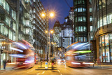 Fototapeta Fototapeta Londyn - London city view traffic at night © william87