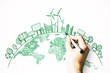 Leinwandbild Motiv Eco-friendly and green concept