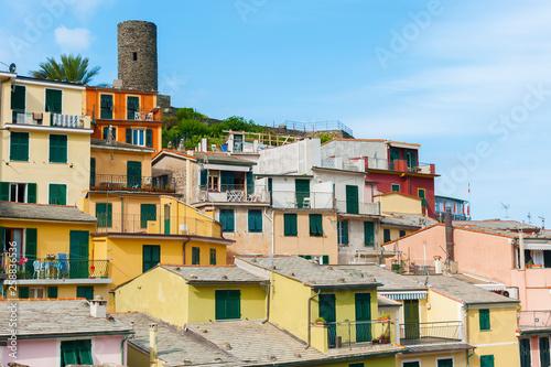 Residential building in resort village Vernazza, Cinque Terre, Italy