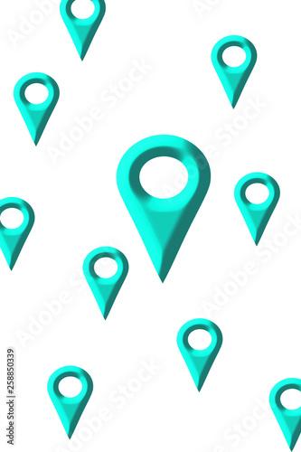 Map mark. Map destination. Map search location. マップのマーク。地図の目的地。地図の検索場所。