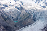 summer landscape with permanent glaciers Swizerland Alps
