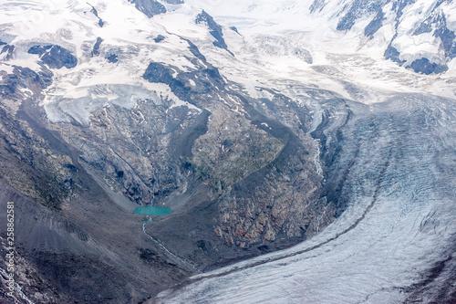 summer landscape with permanent glaciers Swizerland Alps - 258862581