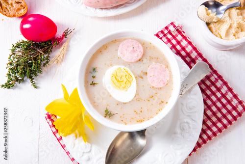 Zurek delicious easter soup after polish style © Dar1930