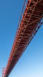 Abstrakter Blickwinkel der Golden Gate Bridge