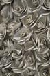 canvas print picture - Papierblüten gefaltet aus Buchseiten als Hintergrund