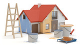 House renovation, 3D illustration - 258915752