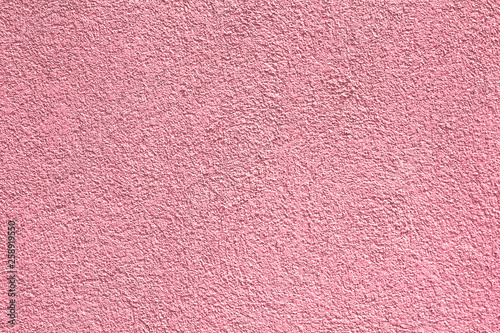 pink, rose textures of decorative facade plasters. Roseate, incarnadine color palette. Multi-colored exterior facing plaster - 258919550