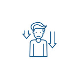 Prostration line concept icon. Prostration flat  vector website sign, outline symbol, illustration.