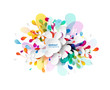 Abstract colored flower background with circles. - 258935509