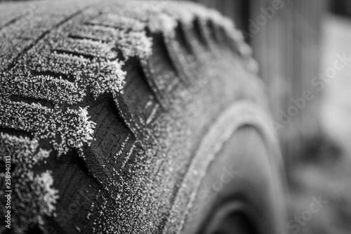 canvas print picture Winterrad