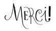 Calligraphie MERCI