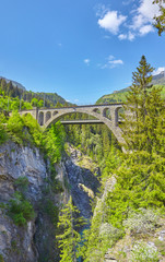 Famous Soliser Viaduct in Switzerland.