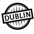 DUBLIN stamp on white - 258963565