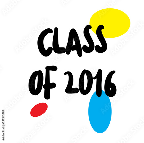 CLASS OF 2016 stamp on white